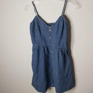 Express denim dress with pockets M